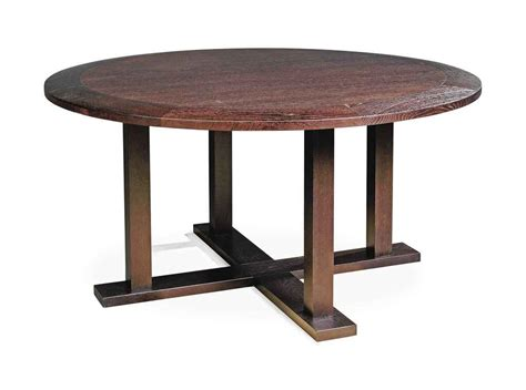 a christian liaigre stained oak circular dining table
