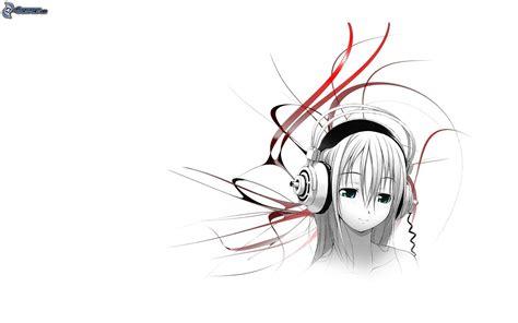 imagenes anime con audifonos chica anime