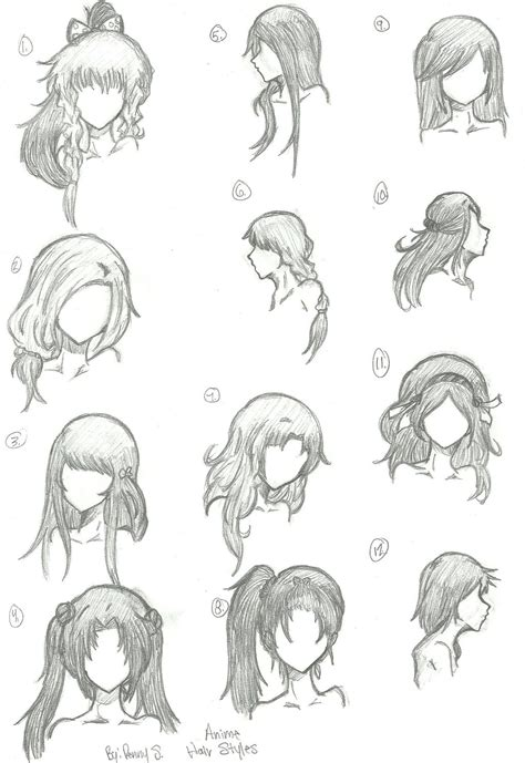 manga hairstyle short long front sides hair styles 1 12 by animebleach14 on deviantart
