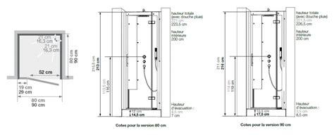 hauteur de robinet de cabine de horizon niche 80x80 faible hauteur porte