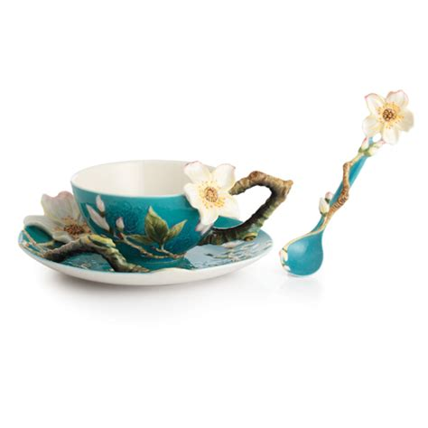 franz collection porcelain gogh almond flower cup