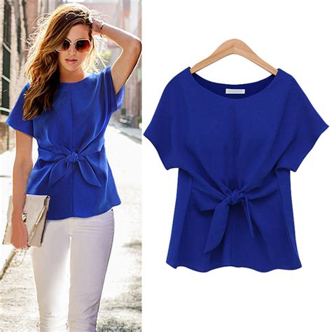 Casual Blouse korean fashion s chiffon tops sleeve