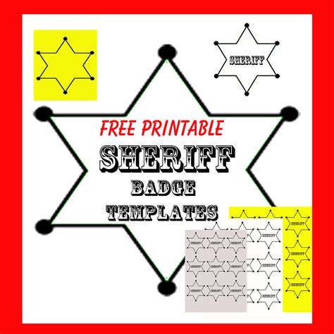 Crafts And Creations By Dancing Cowgirl Design Free Printable Sheriff Badge Templates Printable Badge Template