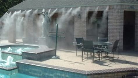 High Pressure Patio Misting System by About Mist Cooling Outdoor Areas Cloudburst 174 Misting