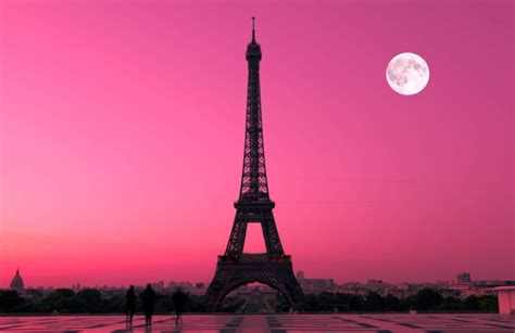 Eiffel Tower Wall Mural paris pink sunset wallpaper wall mural muralswallpaper co uk