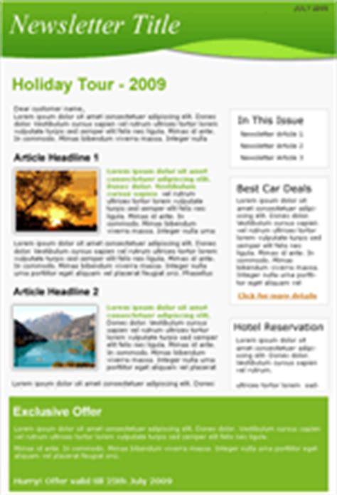 Design Vorlagen Newsletter e mail vorlagen f 252 r reisen benchmark