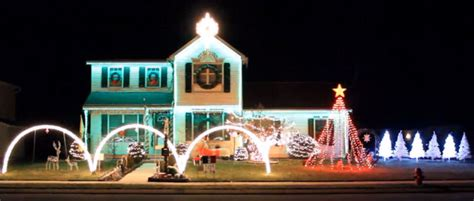 outdoor christmas lights displays in and around lancaster