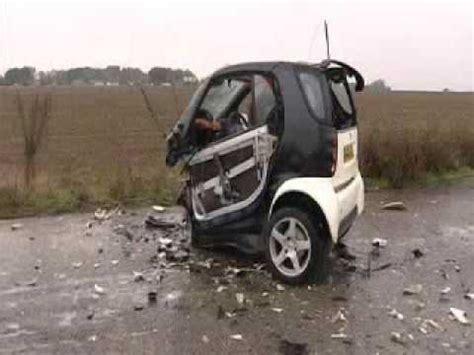 smart car collision test smart car crash test