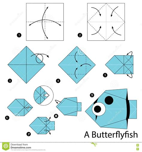How To Make Origami Fish Step By Step - step by step how to make origami a butterfly