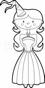 colour her in princess template stock photos freeimages com