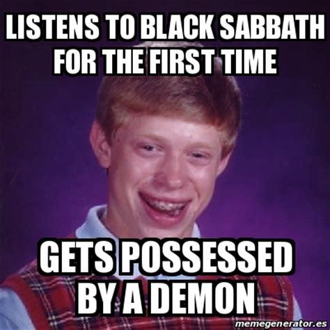 Black Sabbath Memes - meme bad luck brian listens to black sabbath for the