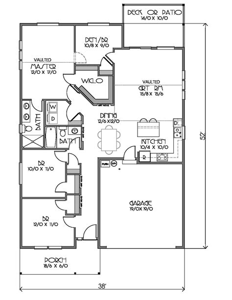 1500 Square Foot Ranch House Plans Ranch Style House Plan 4 Beds 2 Baths 1500 Sq Ft Plan 423 70