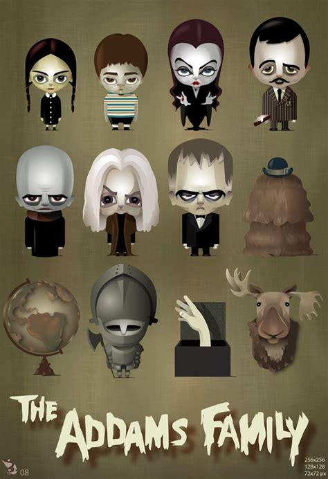 addams family dock icons geekery pinterest