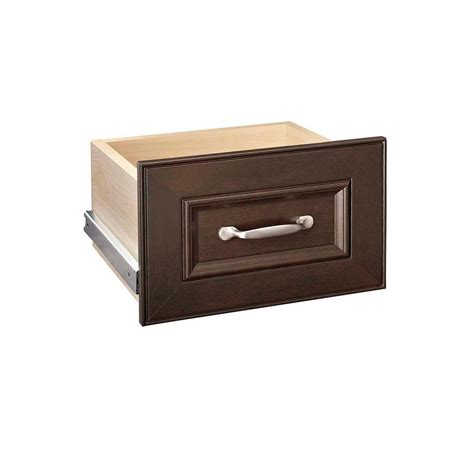 Closetmaid Drawers Home Depot closetmaid impressions 8 in h chocolate narrow drawer kit 30601 the home depot