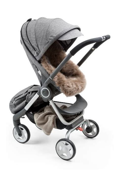 stokke baby wagen plush and luxe genuine sheepskin liner for your stokke