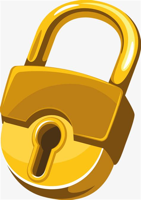lock clip gold lock lock clipart gold big lock png image and