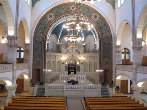 Interior Of A Synagogue by Eyal Bitton Composer Cantor The Same In Every