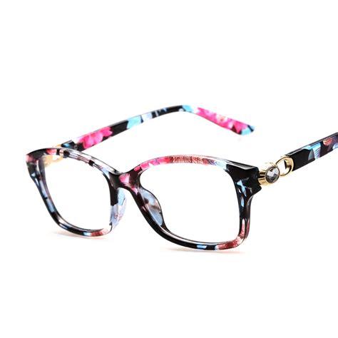 aliexpress buy fashion rhinestone floral eyeglasses