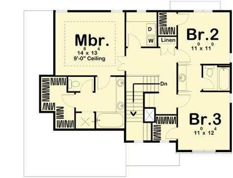 traditional open floor plans traditional house plan with open layout 62617dj