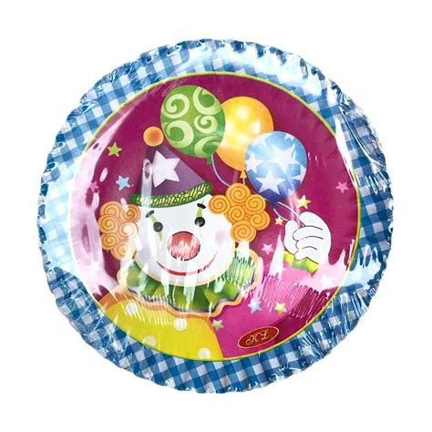 Piring Kue Ulang Tahun Moana Perlengkapan Ulang Tahun jual johnboss badut piring kue ulang tahun 12 pcs harga kualitas terjamin blibli