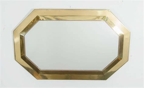 antique brass framed mirror at vintage brass framed octagonal wall mirror c 1970s at 1stdibs