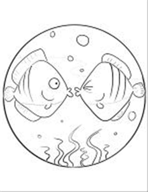 kissing fish coloring page how to draw ime kissing