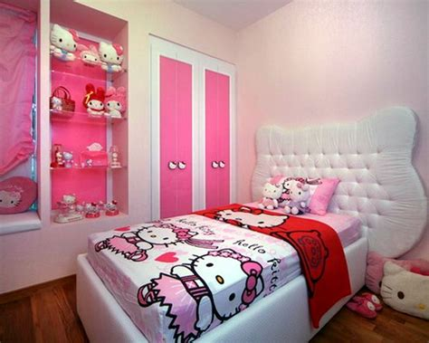 simple bedroom designs for girls simple hello kity girls bedroom designs for small rooms