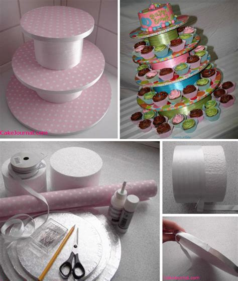 Handmade Cupcake Stands - how to make your own cupcake stand at home with vallee