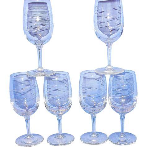 crystal wine glasses vintage crystal wine glasses from mygrandmotherhadone on