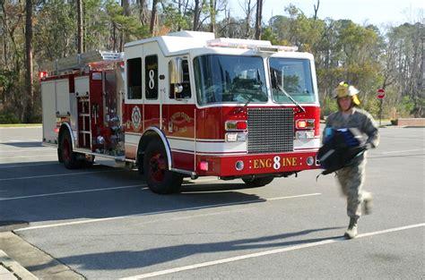 air force introduces  green fire trucks