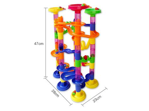 blocks and marbles brand toys inc 105pcs deluxe marble race run play sets educational