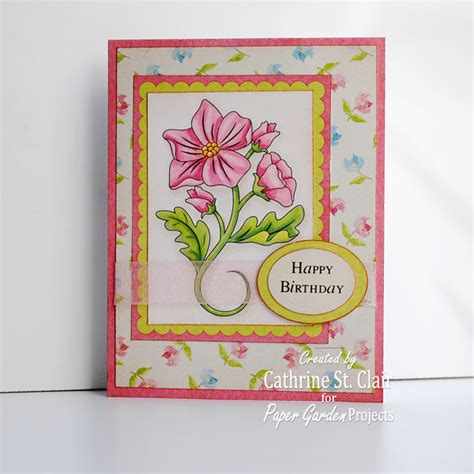 Digi Images For Card Making - hybrid happiness card making class day 3 paper garden projects