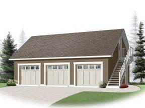 Detached 3 Car Garage Plans by Three Car Garage Plans 3 Car Garage Loft Plan With Cape
