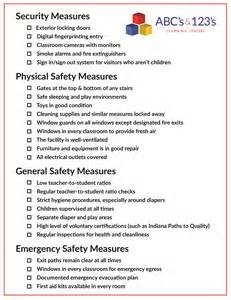 your childcare safety checklist abcs and 123s learning