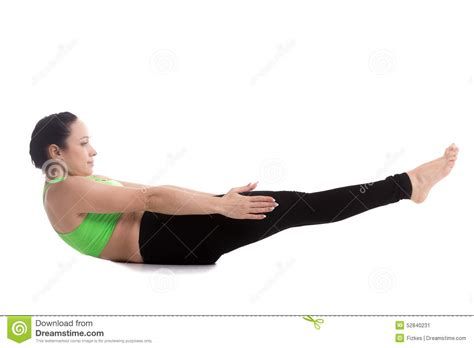 boat pose workout yoga pose for flat belly stock photo image 52840231
