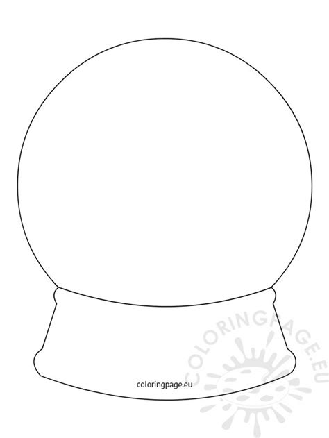 Snow Globe Template Coloring Page Snow Globe Card Template