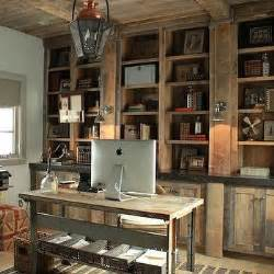 Rustic Built In Bookshelves Rustic Wood Floors Design Ideas