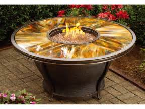 Gas Firepit Tables Oakland Living Moonlight Aluminum 48 Gas Firepit Table With Tempered Glass Top 8205 Rd48