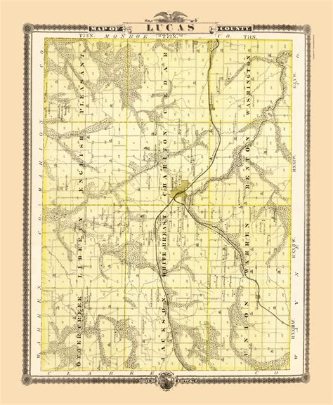 Lucas County Search County Maps Lucas County Iowa Landowner Ia By A T Andreas 1874