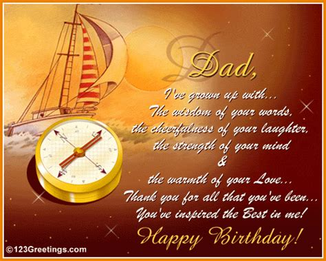 Happy Birthday Cards For Dads Best Dad In The World Free For Mom Dad Ecards Greeting