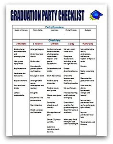 graduation checklist template graduation planning checklist graduation