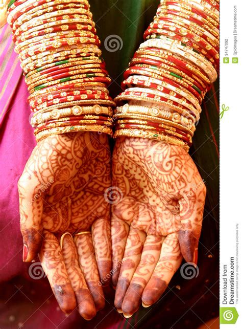 henna hands and bangles stock photography image 34747092