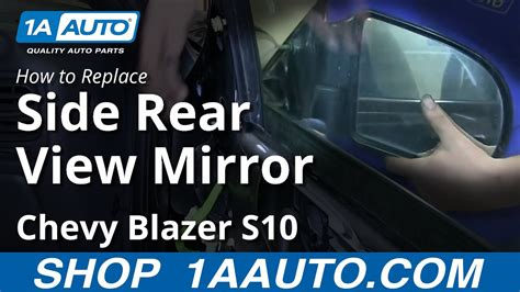 install replace  door side rear view mirror chevy