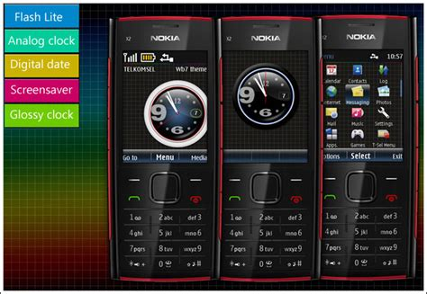 themes mobile nokia x2 02 themes nokia x2 02 clock