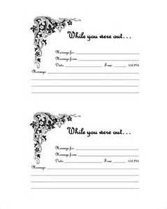 While You Were Out Template by Phone Message Template 21 Free Word Excel Pdf