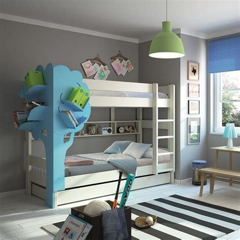 bunk bed with bookcase bunk bed with tree bookcase 187 petagadget