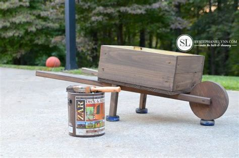 How To Make A Wheelbarrow Planter by How To Make A Wooden Wheelbarrow Woodworking Projects