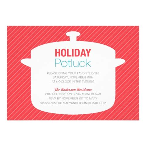 formidable christmas potluck invitation template