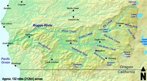 map of oregon river oregon river map