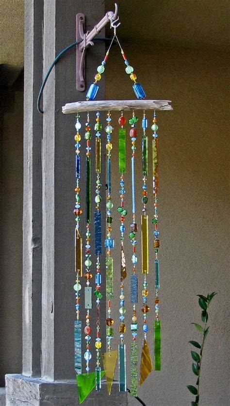 diy beaded wind chimes stained glass wind chime glass windchimes suncatcher